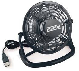 mumbi USB Ventilator Mini für den Schreibtisch mit An/Aus-Schalter, schwarz -