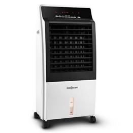 oneConcept CTR-1 Heat Luftkühler 4-in-1 Klimagerät 65 W Leistung 1300 W und 2000 W Heizstufen Luftreinigungfunktion 1 L/h Wasserverbrauch 8 L Wassertank Fernbedienung weiß-schwarz - 1