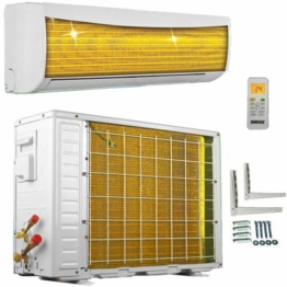 A++/A++ ECO Smart Inverter Golden-Fin 12000 BTU 3,5 kW Split Klimaanlage mit Wärmepumpe INVERTER Klimagerät und Heizung - 1