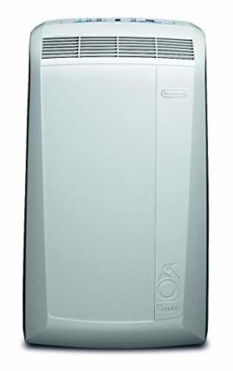 De'Longhi Pinguino PAC N82 ECO Silent - mobiles Klimagerät mit Abluftschlauch, leise Klimaanlage für Räume bis 80 m³, Luftentfeuchter, Ventilationsfunktion, 12h-Timer, 2,4 kW, 75 x 45 x 39,5 cm, weiß - 1