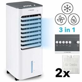 TROTEC PAE 21 Aircooler, mobiles 3 in 1 Klimagerät, Luftkühler, Lufterfrischer, Ventilator (3 Gebläsestufen, leise, Swing-Funktion uvm.) - 1