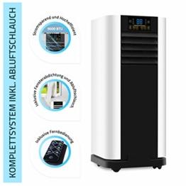 Home Deluxe - Klimaanlage SET Mokli XL - Mobiles Klimagerät mit 4in1 System: kühlen, heizen, entfeuchten, lüften - 9000 BTU/h (2.600 Watt) - Mobile Klima mit Montagematerial, Fernbedienung und Timer - 1