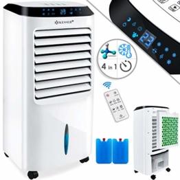 KESSER® 4in1 Mobile Klimaanlage | Fernbedienung | Klimagerät | Ventilator Klimaanlage | 10 L Tank | Timer | 3 Stufen | Ionisator Luftbefeuchter | Luftkühler | Weiß - 1