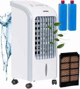 3in1 Mini Aircooler | 4 Liter Kapazität | Mobile Klimaanlage | 3 Geschwindigkeitsstufen | Klimagerät | Luftreiniger | Klima Ventilator | Luftkühler | Air Cooler | (Weiß) - 1