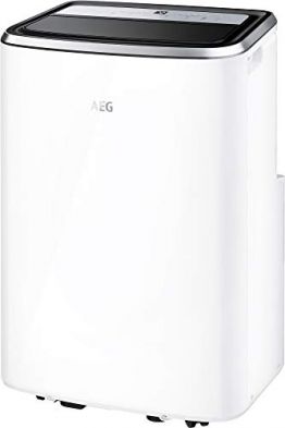 AEG Chillflex Pro AXP26U338CW mobiles Klimagerät / LED Display / Touch-Buttons / Fernbedienung / 30-40 m² / Kühlfunktion / Ventilator / Entfeuchtungsfunktion / Automatik / weiß/silber/schwarz - 1