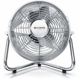 Brandson - Windmaschine Retro Stil Ventilator im Chrom Design - Standventilator 32 Watt - Tischventilator hoher Luftdurchsatz - 1