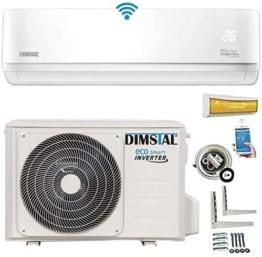 INVERTER Split Klimaanlage Klimagerät ECO Smart WLAN/WiFi 3,5kW 12000 BTU komplett Set inkl. 3m Kupferleitungen & Heizfunktion (3,5 kW/12000btu) - 1