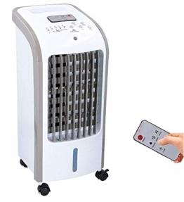 JUNG TVE25 mobiles Klimagerät mit Wasserkühlung, TÜV geprüft, inkl. Fernbedienung + Timer, Mobile Klimaanlage leise, Kühlender Ventilator ohne Abluftschlauch - 1