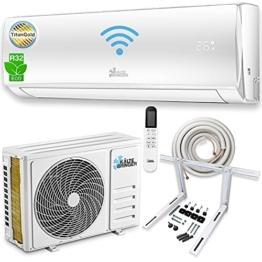 Kältebringer Split Klimaanlage - Inverter Klimagerät mit WIFI/App Funktion - bis 55 qm - A++ Kühlen/A+ Heizen - 12000 BTU - Kältemittel R32 - Komplett-Set mit 5m Kupferleitung, Wandhalterung - 1