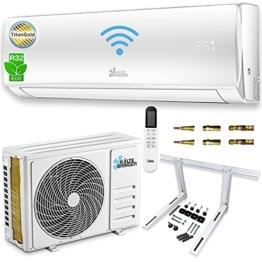 Kältebringer Split Klimaanlage Set - Quick-Connector Klimagerät Inverter mit WIFI/App Funktion - bis 55qm - A++ Kühlen/A+ Heizen - 12000 BTU - Kältemittel R32-5m Kupferleitung, Wandhalterung - 1
