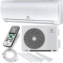 KESSER® Klimaanlage Set Split - mit WiFi/App Funktion Klimagerät - Kühlen A++/ Heizen A+ - 9000 BTU/h (2.600 Watt) Kältemittel R32 - Fernbedienung, Timerfunktion - Inkl. komplettem Montagematerial - 1